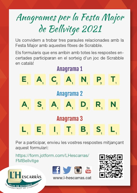 anagrames Bellvitge 2021