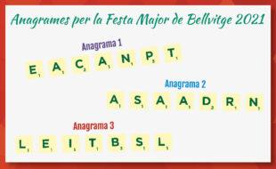 festa major Bellvitge anagrames 2021