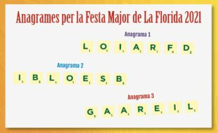 anagrames festa major La Florida 2021 Hospitalet