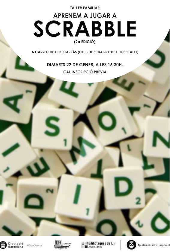 Taller, Scrabble, català, biblioteca, Josep Janés, Hospitalet, LH, FISC, L'Hescarràs, L'Hospitalet